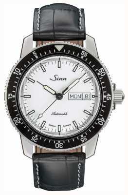 Sinn 104 st sa iw classique montre pilote alligator cuir gaufré 104.012 BLACK EMBOSSED LEATHER