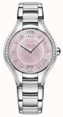 Raymond Weil Womens noemia diamant acier inoxydable bracelet rose cadran 5132-STS-00986