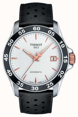 Tissot Bracelet en cuir noir swissmatic t-sport pour homme T1064072603100
