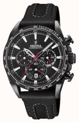 Festina Montre chrono en cuir noir pour homme F20351/3