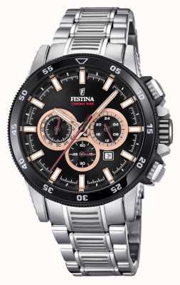 Festina 2018 chronobike montre en acier inoxydable bracelet F20352/5