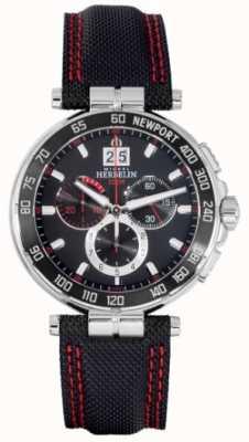 Michel Herbelin Newport chronographe cadran rouge et noir 36656/AN44