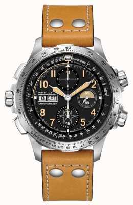 Hamilton Chronographe automatique édition limitée khaki aviation x-wind H77796535