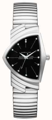 Hamilton Ventura flex quartz cadran noir acier inoxydable H24411232