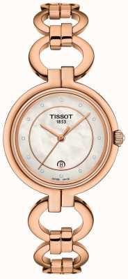 Tissot Flamant rose pour femme plaqué or pvd T0942103311601