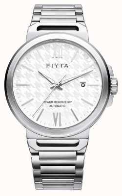 FIYTA Solo automatique en acier inoxydable blanc cadran saphir GA852000.WWW