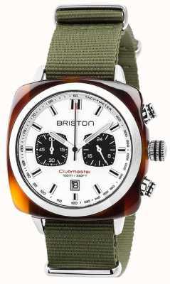 Briston Clubmaster sport jungle blanc cadran 17142.SA.TS.2.NGA