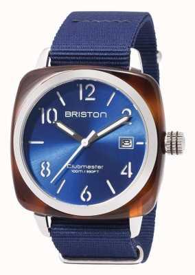 Briston Icônes de sport Clubmaster bracelet bleu 17142.SA.TS.9.NNB