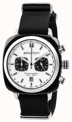 Briston Clubmaster sport bracelet noir intemporel cadran blanc 17142.SA.BS.2.NB