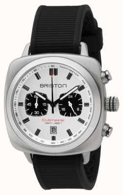 Briston Clubmaster sport bracelet en caoutchouc noir cadran blanc 16142.S.SP.2.RB