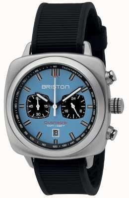 Briston Clubmaster sport caoutchouc noir cadran mat bleu clair 16142.S.SP.18.RB