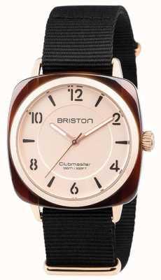 Briston Bracelet Clubmaster chic noir avec bracelet en or 18536.PRA.T.6.NB