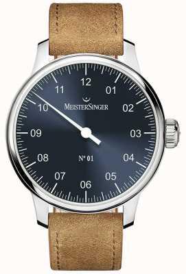 MeisterSinger N ° 1 40mm et bracelet en cognac suède sellita DM317