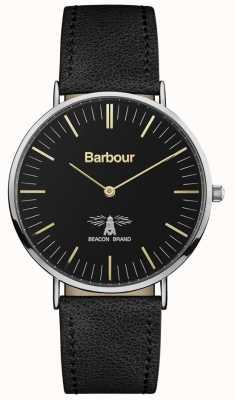 Barbour Bracelet homme en cuir noir hartley noir BB055BKBK
