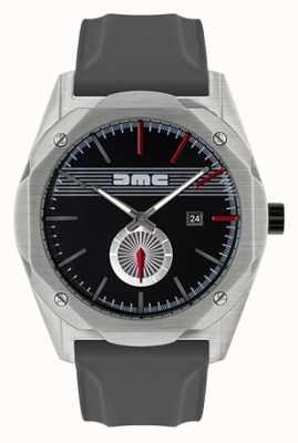 DeLorean Motor Company Watches Le rêve d'avance bracelet en silicone gris cadran noir DMC-5