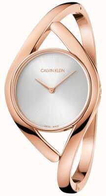 Calvin Klein Fête des dames rose montre en acier inoxydable or K8U2M616