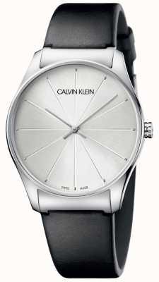 Calvin Klein Montre à cadran en cuir noir pour femme K4D211C6