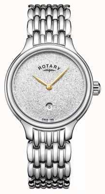 Rotary Femmes sparkle glitter cadran en acier inoxydable LB00405/33