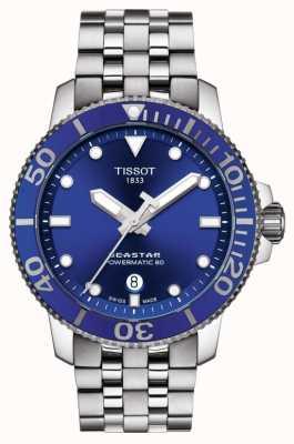 Tissot Seastar 1000 powermatic 80 bleu cadran en acier inoxydable T1204071104100