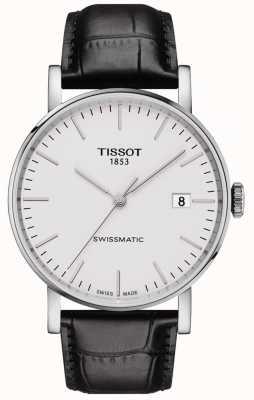 Tissot Mens swissmatic automatique chaque bracelet en cuir noir T1094071603100