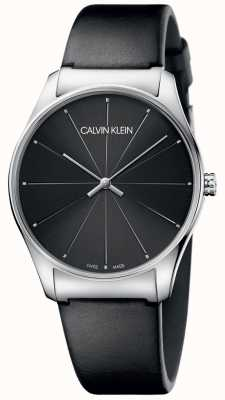 Calvin Klein Bracelet noir classique en cuir noir K4D211CY