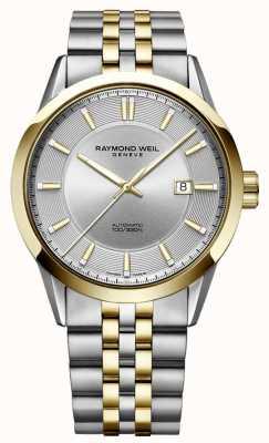 Raymond Weil Mens freelancer automatique deux tons bracelet cadran argent 2731-STP-65001