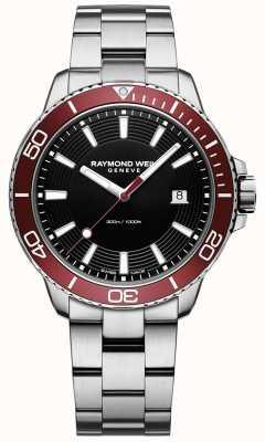 Raymond Weil Bracelet en acier inoxydable pour homme, tango 300, plongeur 8260-ST4-20001