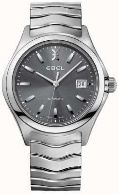 EBEL Horloge automatique à cadran gris date homme en acier inoxydable 1216266