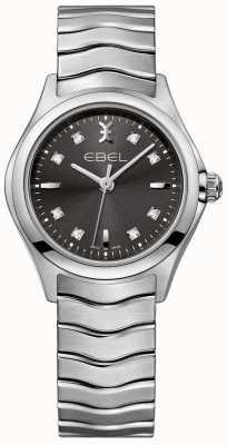 EBEL Bracelet en acier inoxydable à cadran anthracite pour femme 1216316
