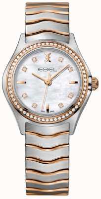 EBEL Bracelet bicolore avec cadran en nacre et vague de diamant pour femme 1216325
