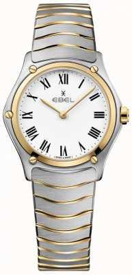 EBEL Bracelet bicolore sport classique blanc pour femme en acier inoxydable 1216387A