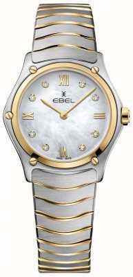 EBEL Sport classique pour femme avec cadran en nacre et diamant bicolore 1216388A