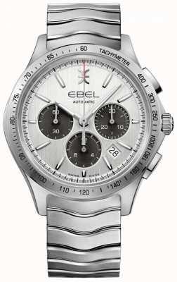 EBEL Chronographe automatique homme chronographe tachymètre cadran argenté 1216403