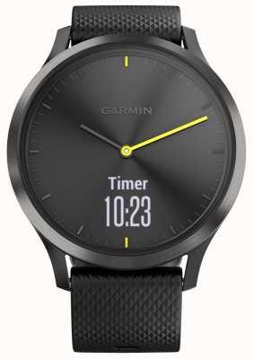 Garmin Vivomove hr tracker d'activité noir accents de caoutchouc jaune 010-01850-01