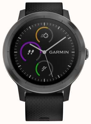 Garmin Vivoactive 3h multisport tracker en caoutchouc noir lunette noire 010-01769-10