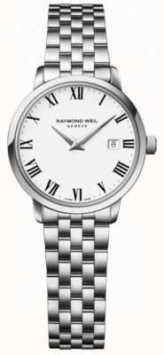 Raymond Weil Womens toccata bracelet en acier inoxydable cadran blanc 5988-ST-00300