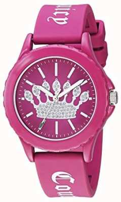 Juicy Couture Montre femme en silicone rose cadran couronne rose JC-1001HPHP