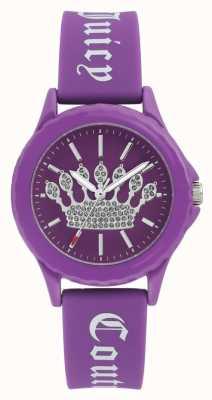 Juicy Couture Montre pour femme en silicone avec cadran violet JC-1001PRPR