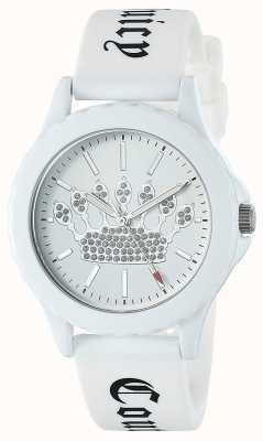Juicy Couture Montre femme blanche à bracelet en silicone avec cadran blanc JC-1001WTWT