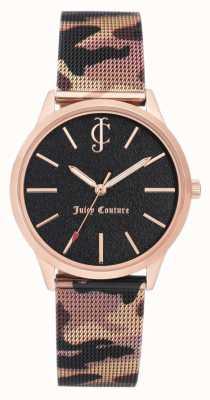 Juicy Couture Bracelet en cuir imprimé camouflage brun pour femme JC-1014RGCA