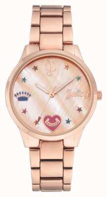 Juicy Couture (sans boîte) montre bracelet en or rose pour femme JC-1016RMRG