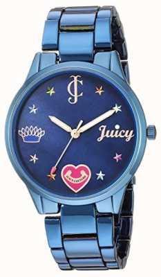 Juicy Couture Bracelet acier bleu femme | marqueurs de couleur | cadran bleu JC-1017BMBL