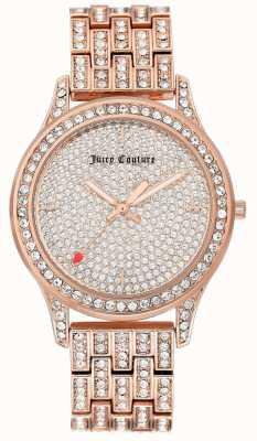 Juicy Couture Montre-bracelet pour femme couleur or rose JC-1044PVRG