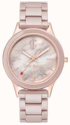 Juicy Couture Montre analogique bracelet en acier plaqué femme JC-1048TPRG