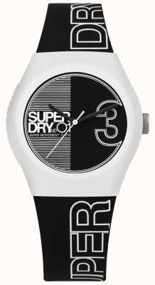 Superdry Cadran et bracelet imprimés en noir et blanc Urban Fusion SYL239BW