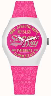 Superdry Cadran rose et bracelet urbain SYL249P