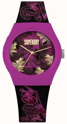 Superdry Cadran violet imprimé fleurs violettes et roses SYL247BP
