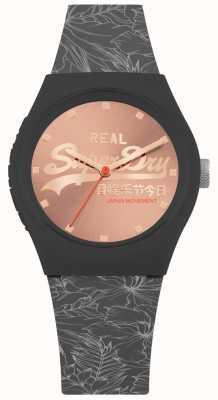 Superdry Cadran sunray or rose feuille urbaine bracelet gris foncé SYL248E