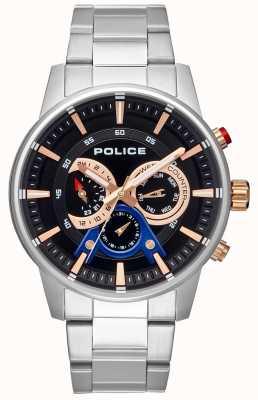 Police Cadran en acier inoxydable pour homme PL.15523JS/02M