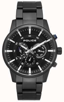 Police Cadran noir pour homme PL.15523JSB/02M